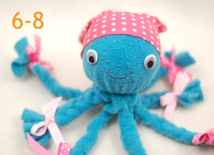 Ljubka hobotnica iz flisa in blaga kako va emu otroku for Craft ideas for women